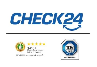 Kreditvergleich check24 - Gütesiegel